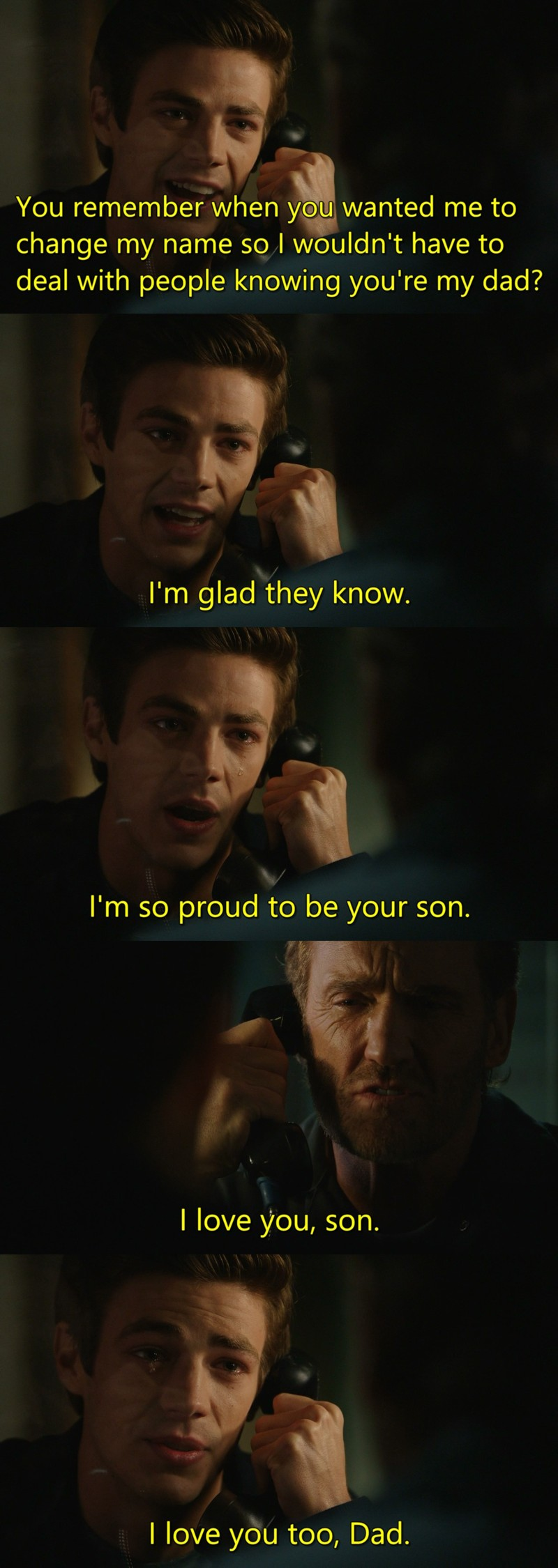 I teared up at this moment, I hope Barry soon find his mother killer.