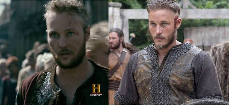 Ubbe and its similarity to the Ragnar in first season!