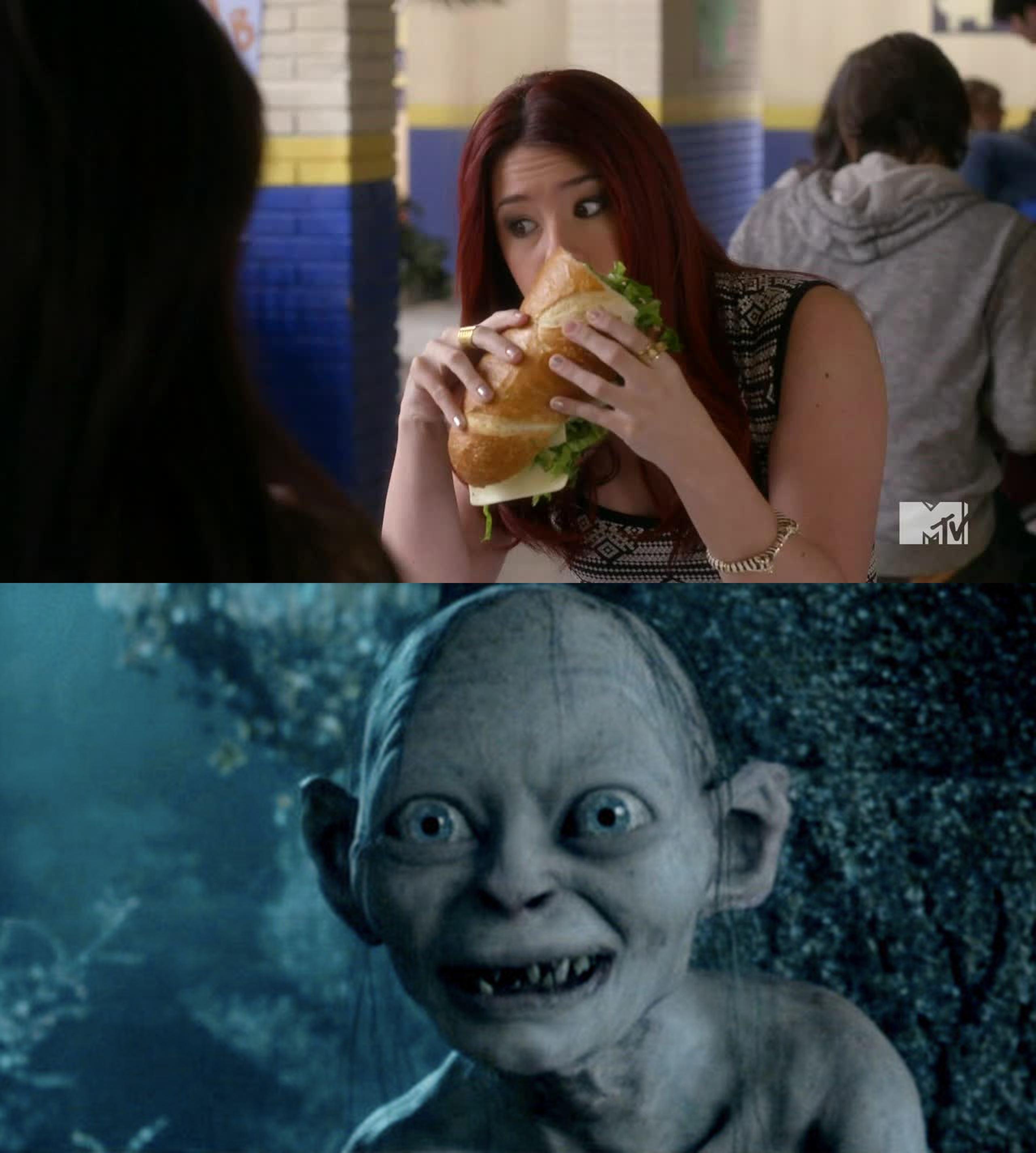 Ce sandwich est énorme ! Elle est enceinte ?
