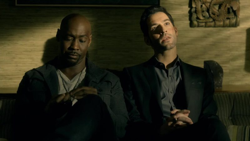 This scene was hilarious as hell.  Lucifer and Amenadiel both acting innocent as if they were scolded by their mother:P
