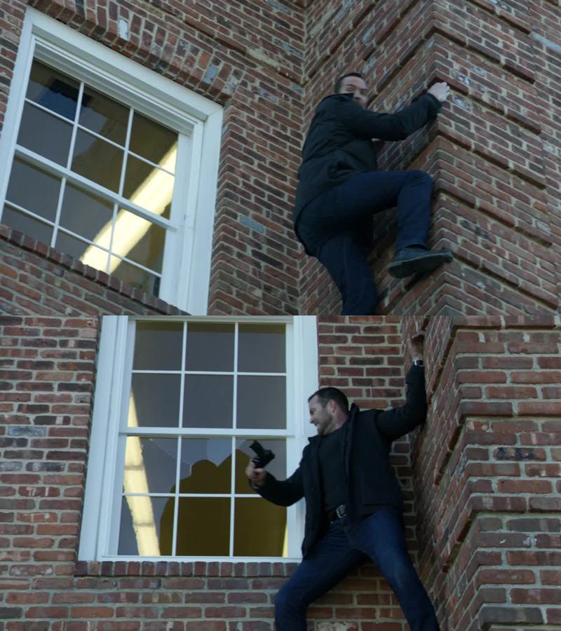 Weller going full Spider-Man mode 😉