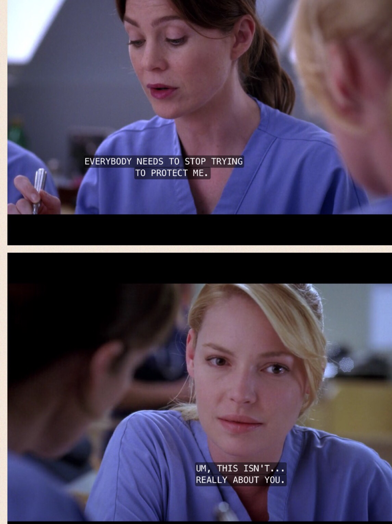 Favorite part! Meredith is so self absorbed sometimes, it's getting annoying 🙄