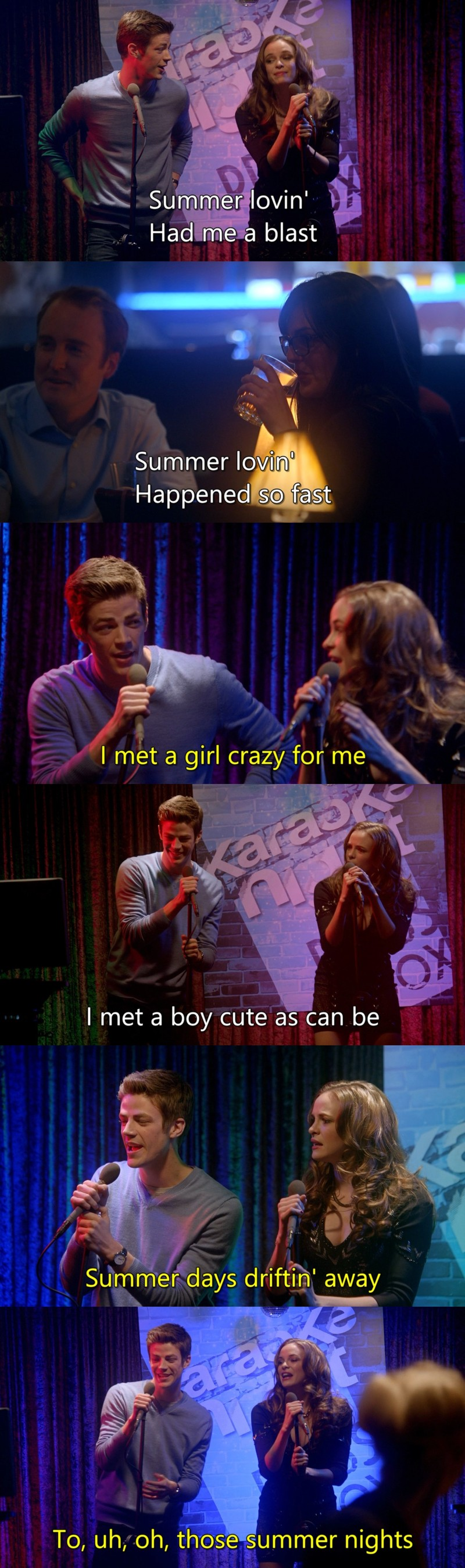 This scene was the best, they should do karaoke more often.