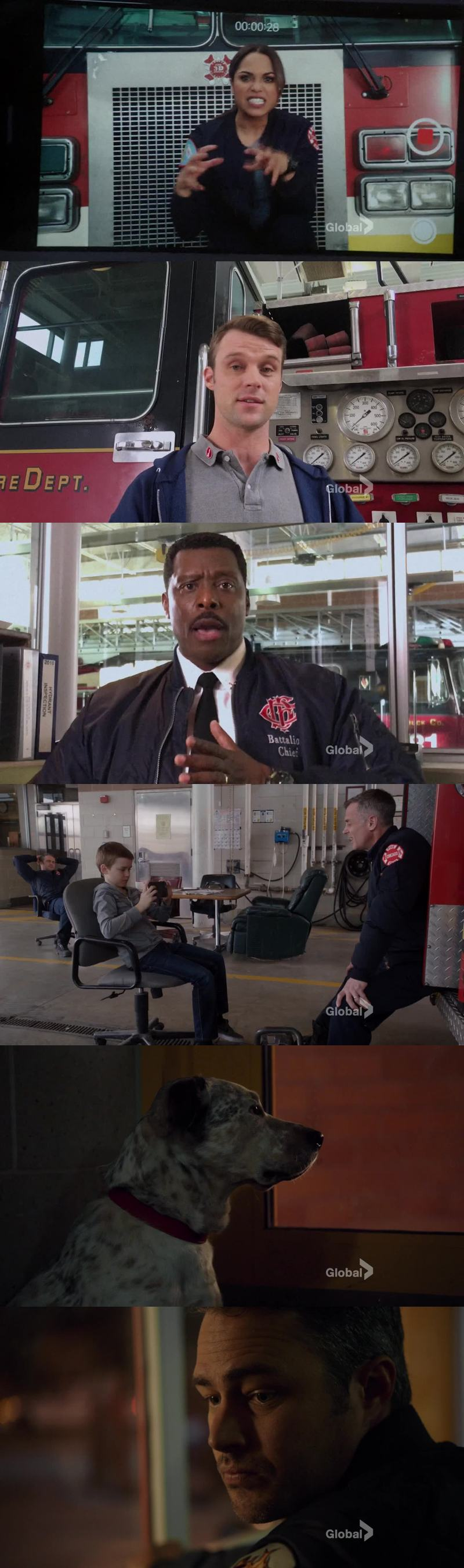 I loved how they kept JJ busy the entire shift. BEST FIREHOUSE ❤ Kelly Severide I love you 😢 Pouch 😢