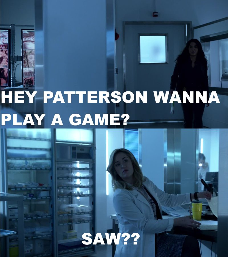 I love Patterson she's beautiful, smart and totally hilarious ❤ also she totally reminds me of the big bang theory 😂