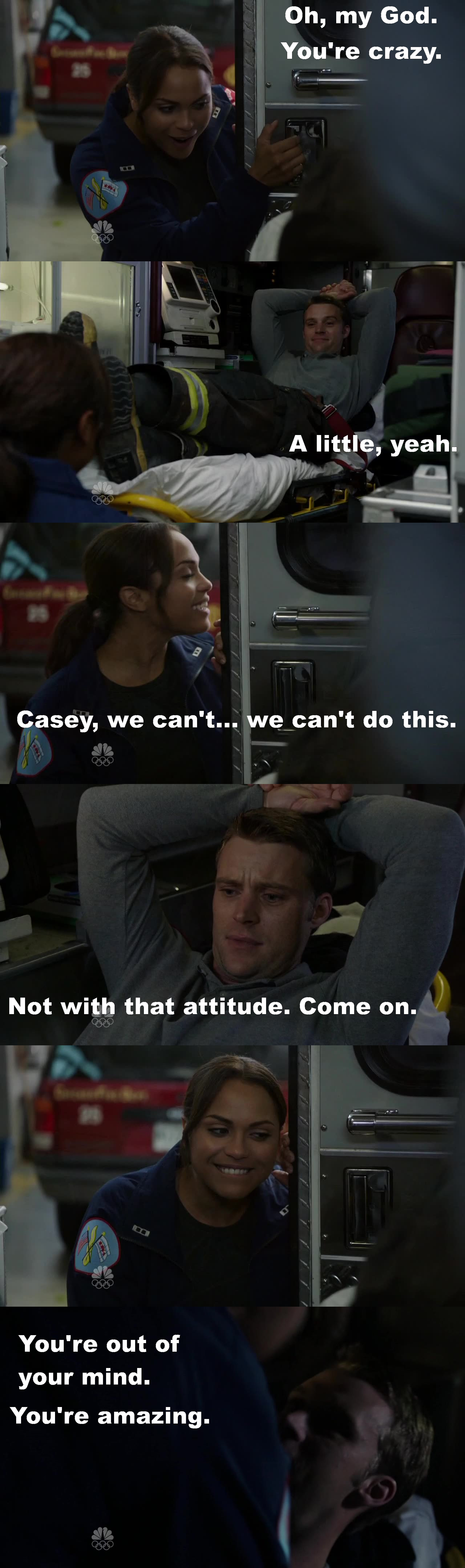 So amazing moment!!! I loved this!!! And that she think he is crazy! That is awesome!! I love my Dawsey!!! #Matt&Gabby #Dawsey #OTP