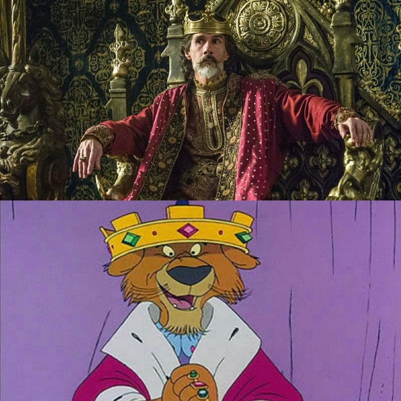 Am I the only one who think of this resemblance? Every time I see Emporor Charles, I think about Prince John from Disney's Robin Hood. Hahahah