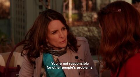 """""""Você não é responsável pelos problemas dos outros""""  Levando pra vida ♥"""