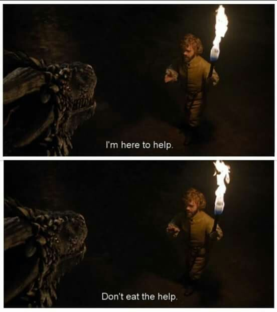 Tyrion + dragons = best thing ever