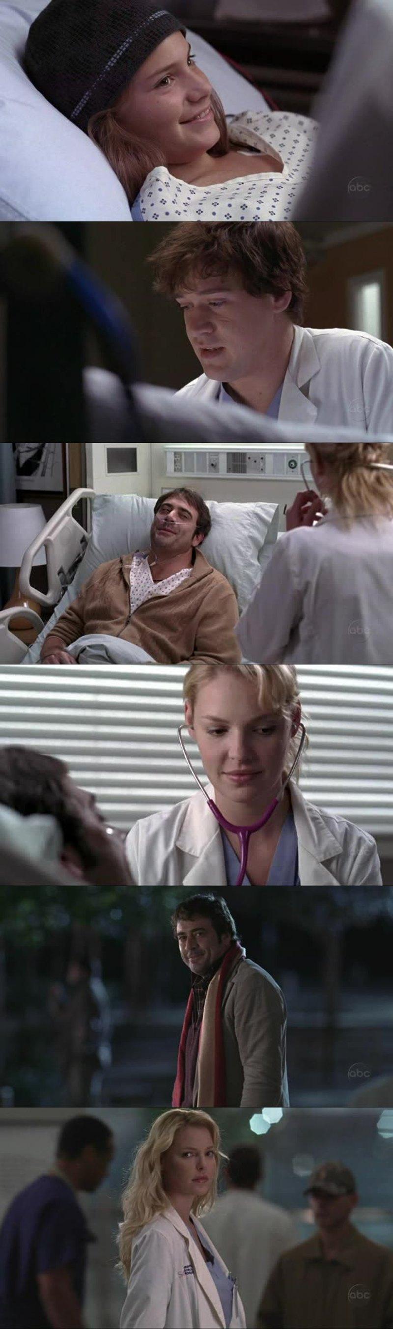 George sempre subindo no meu conceito kra, e Izzie espero que fique com ele😍..lindo casal, espero que ela não volte para o Alex😠...