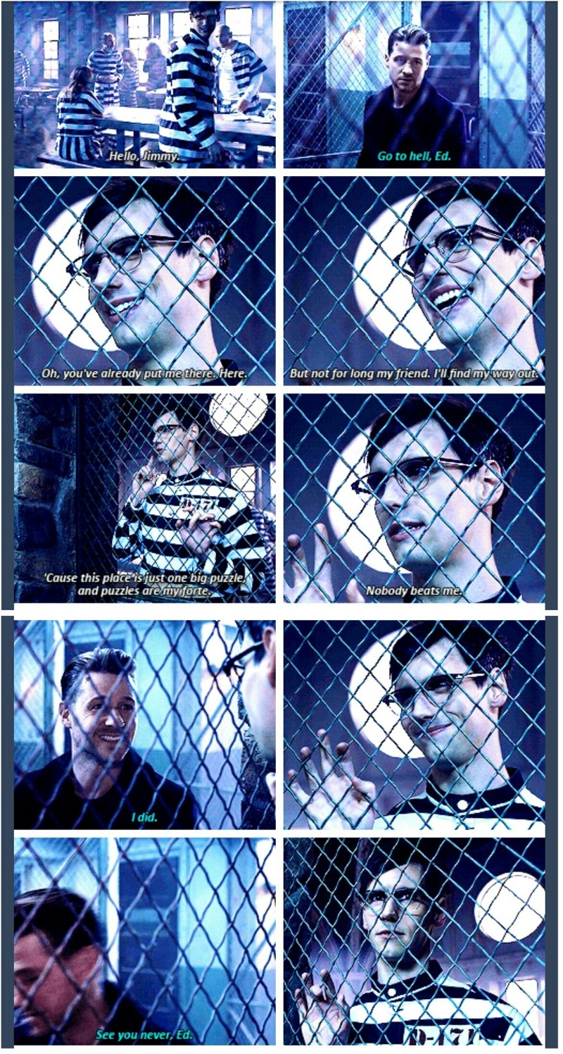 Look at the proud face of Gordon 😂 Don't be so sure Gordon, you should know by now that Nygma isn't an easy enemy to deal with.