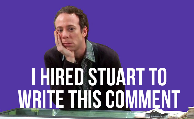 Stuart's seal of approval!