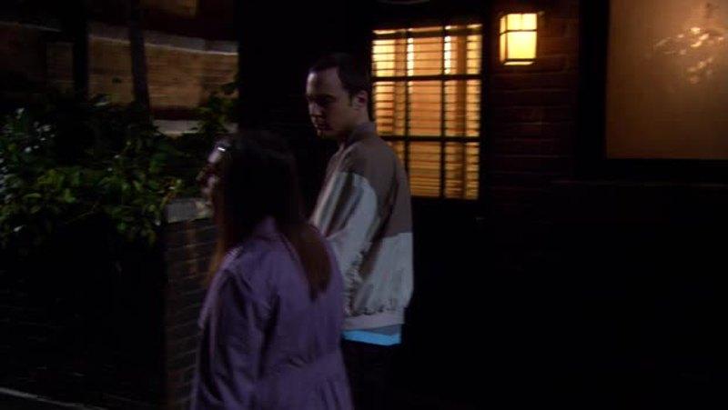 Il primo contatto umano tra Sheldon e Amy: