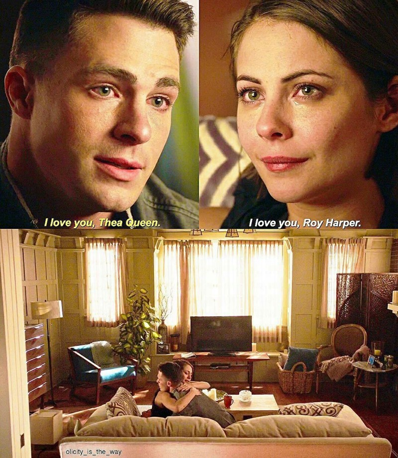 I really need them together again! ♡ I want Roy back to save Thea from Darkh