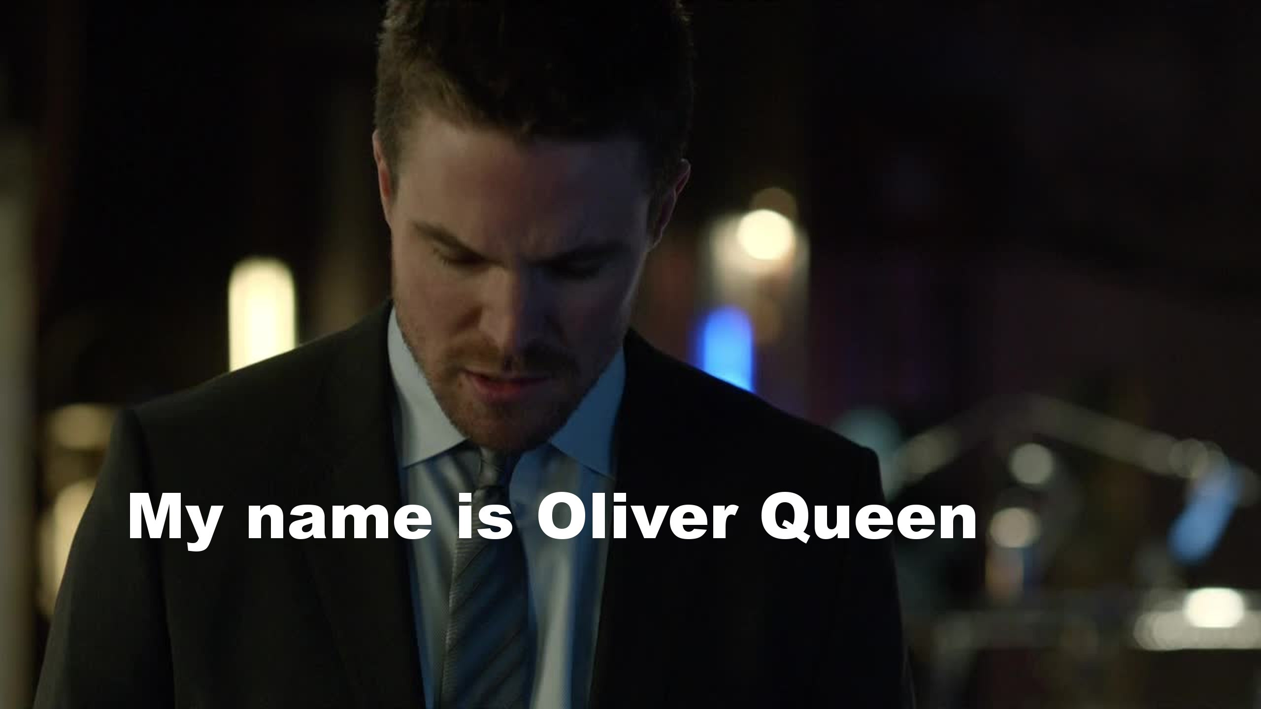 Please, tell the authors we know hIs name is Oliver Queen. No need to remind us every episode!!