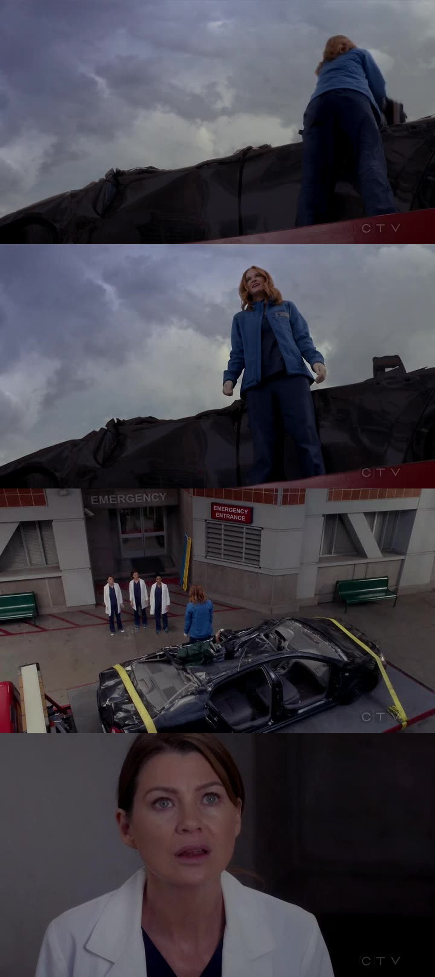 Yep. That last image of April standing on the top of the car like a warrior was pretty cool!