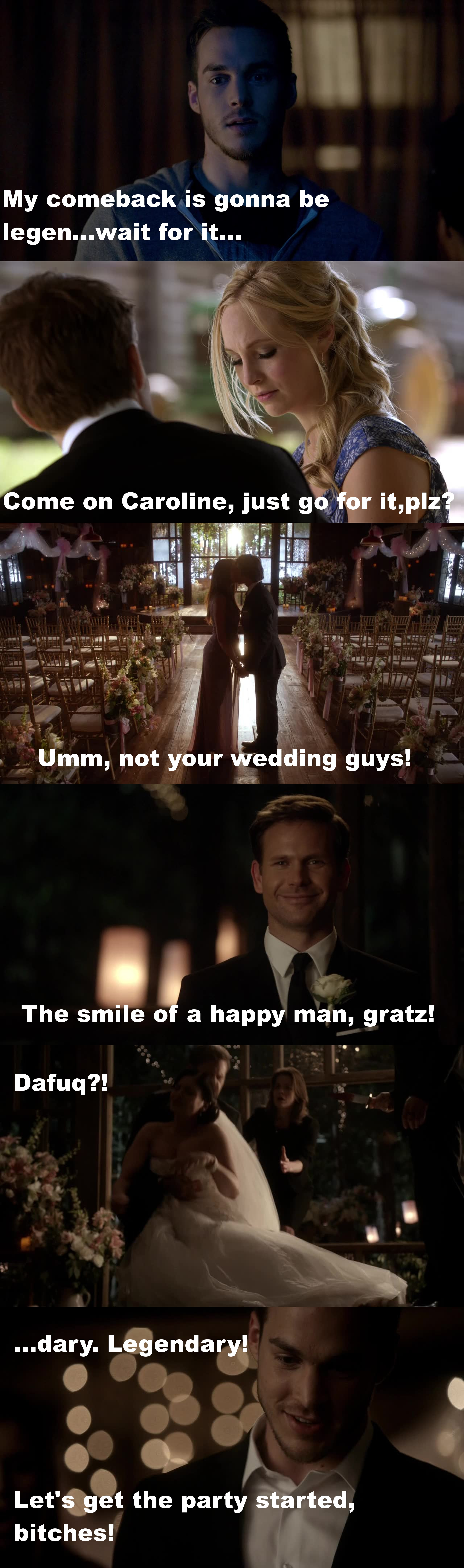 Well Kai was pretty great, just sad that he had to ruin the wedding. I liked seeing Alaric and Jo happy. Alaric is a great character and as one of the few humans on the show, he deserves happiness. Dammit, Bonnie! Your fault Kai is evil again!