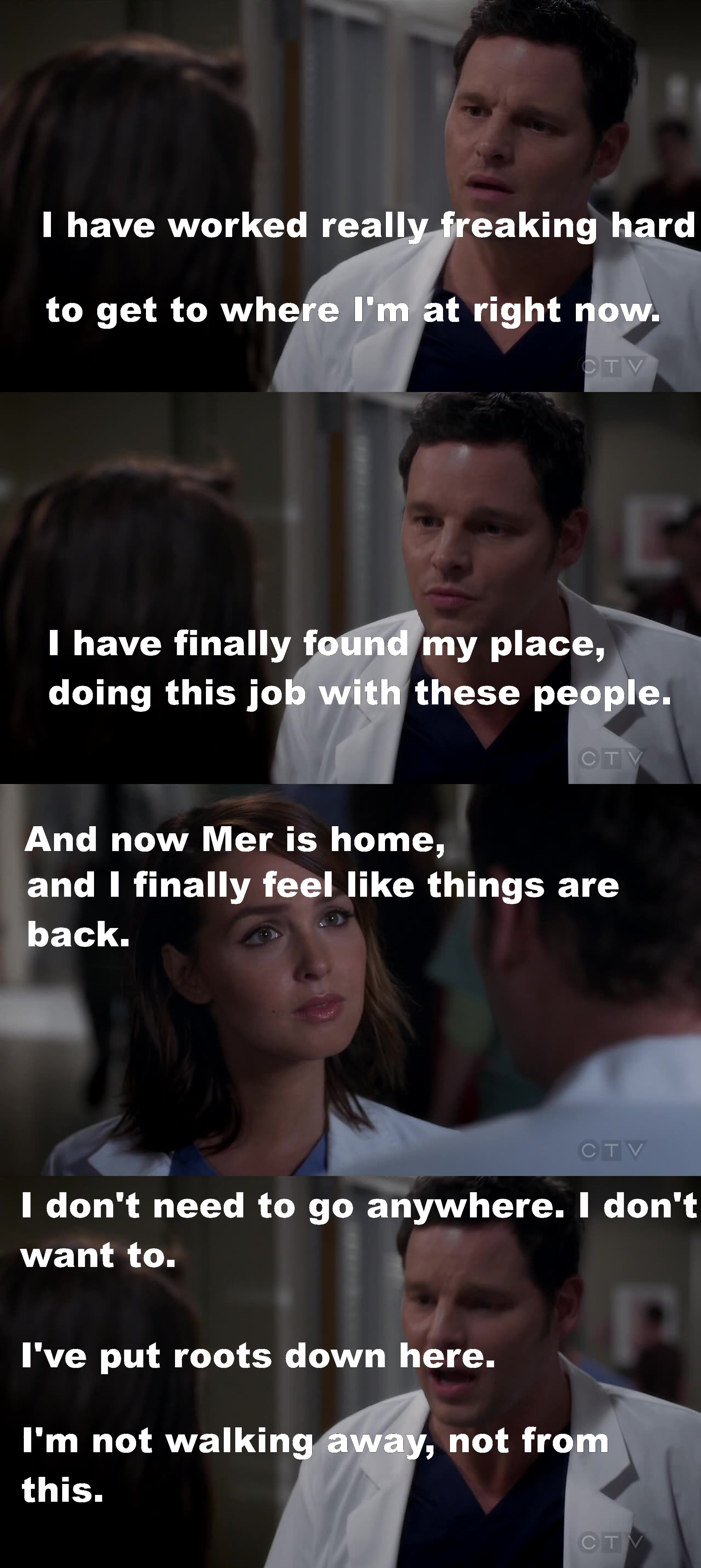 """""""I have put roots down here"""" Ladies and gentleman Alex Karev like never before, love him!"""