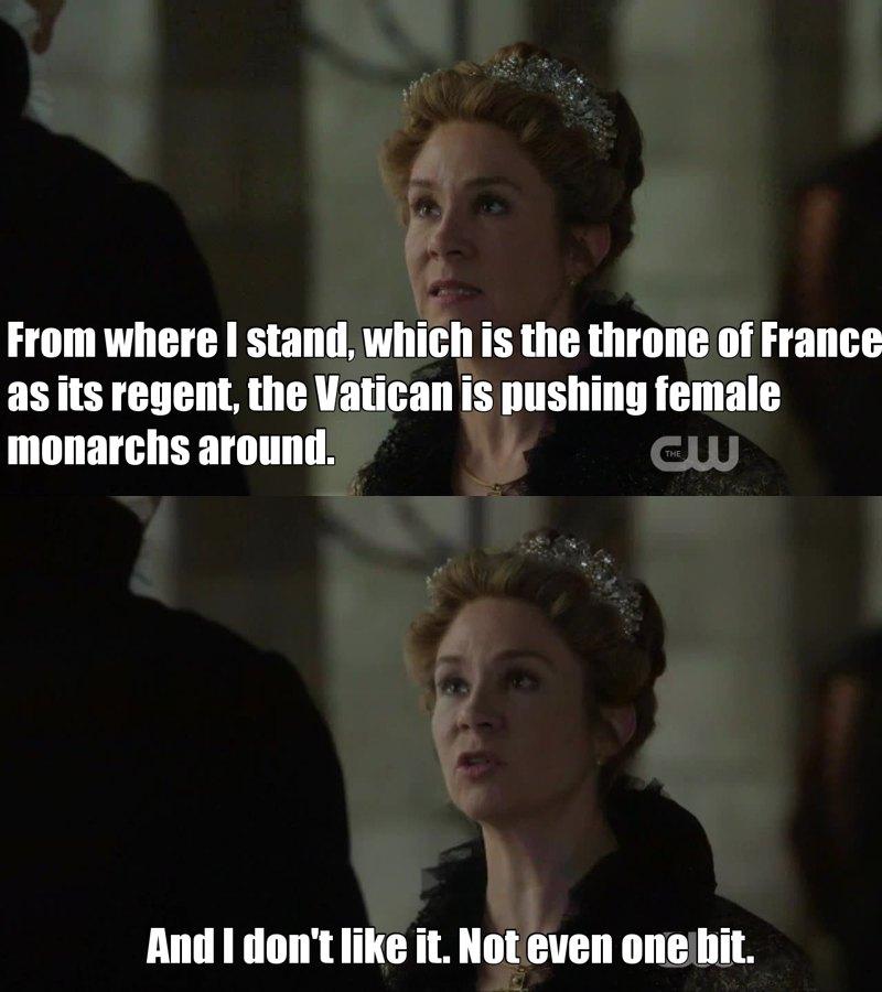 I love how fierce Catherine is. 👊 💪