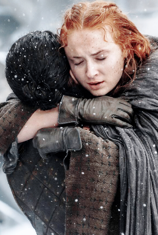 I'VE WAITED SIX FUCKING SEASONS.... TO FINALLY SEE A STARK REUNION AND WE FINALLY GOT ONE AND IT WAS ONE OF THE MOST BEAUTIFUL THINGS I HAVE EVER SEEN. I'M NOT CRYING YOU'RE CRYING