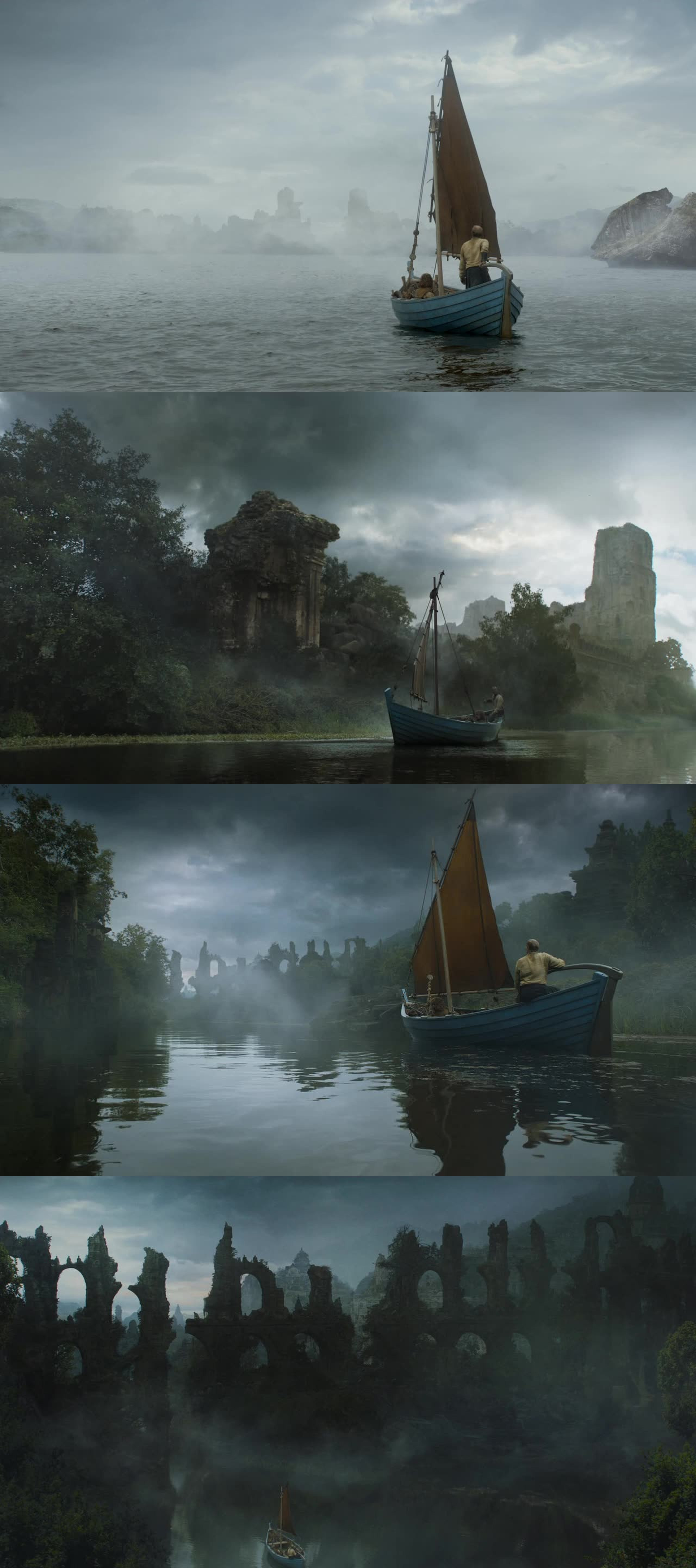 Oh, I love this scene! Old Valyria is simply gorgeous!