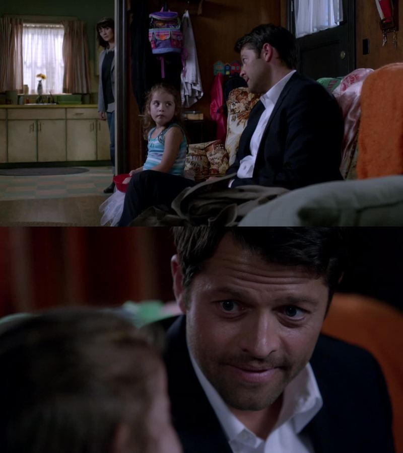 Stop putting babies near Castiel! I CAN'T HANDLE IT! *-*