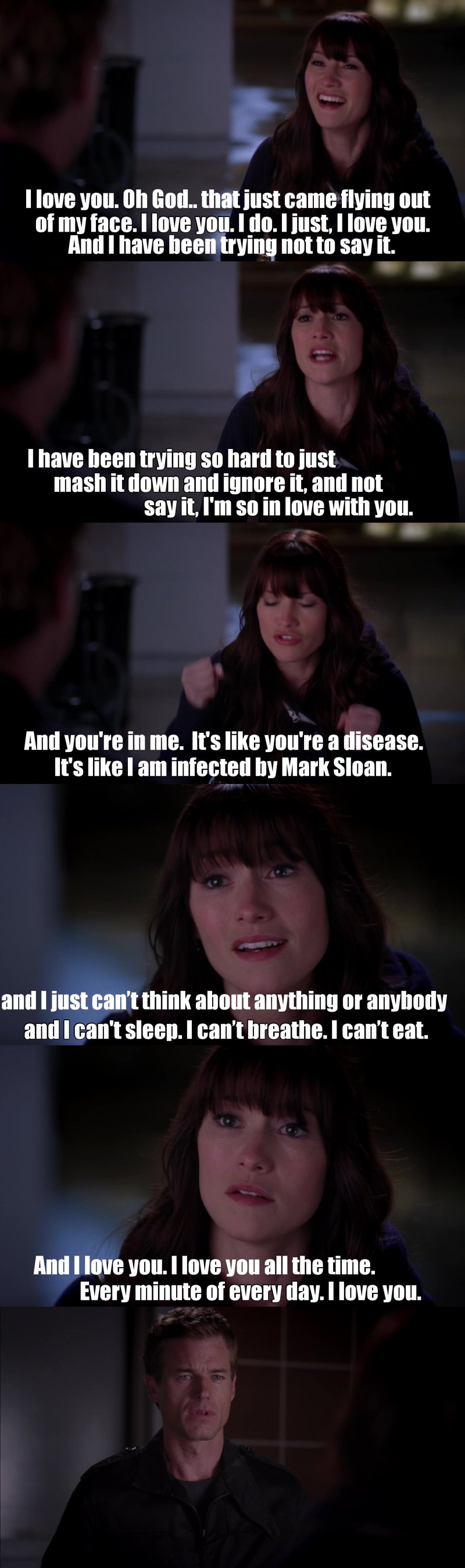 Lexie trying to find words to confess his feelings is the cutest thing I've ever seen omg I fucking love her..