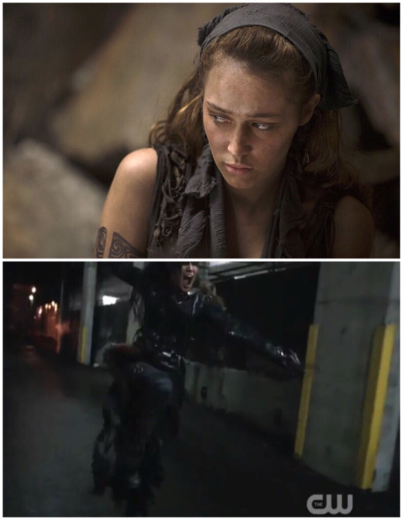 Lexa. Heda. The Commander.  First and last scene.
