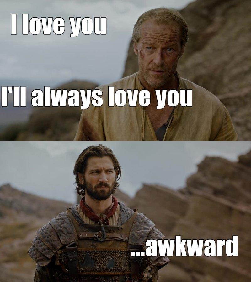 """Daario's like : """"Dude, that's my bae"""" 😂😂"""