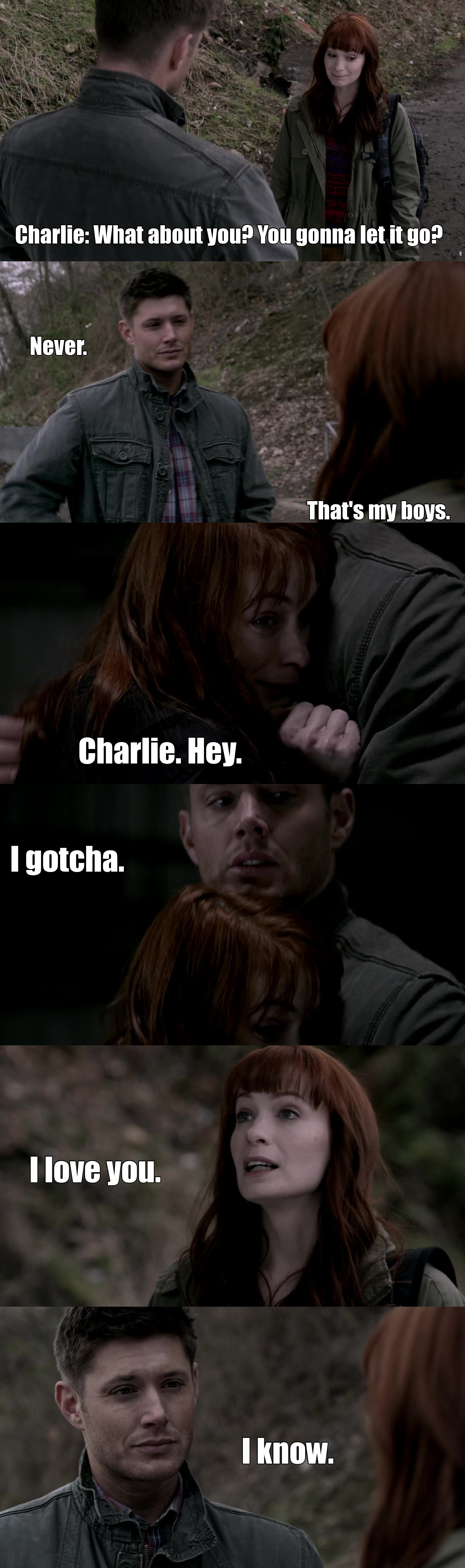 It's not because Charlie is dead that she'll be forever gone right ? right ? There's a blurry line between Life and Death in Supernatural, she can come back, I hope she will, I miss her already...