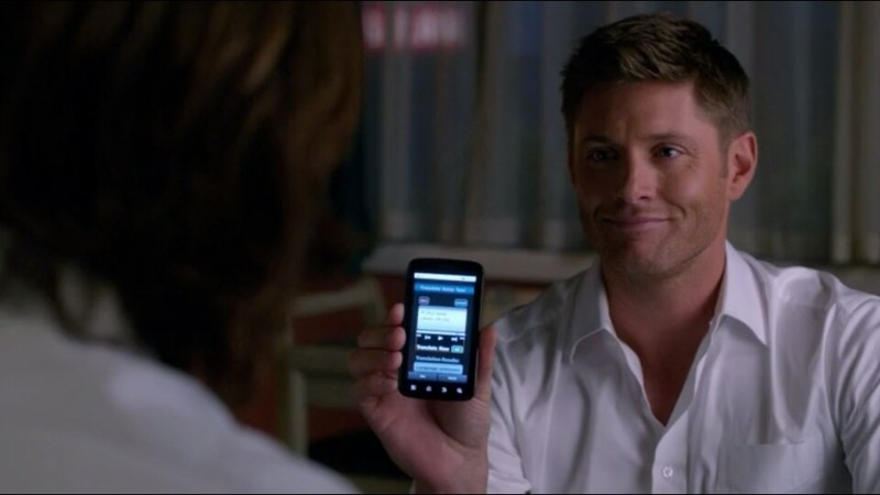 Finally a Smartphone on supernatural lol
