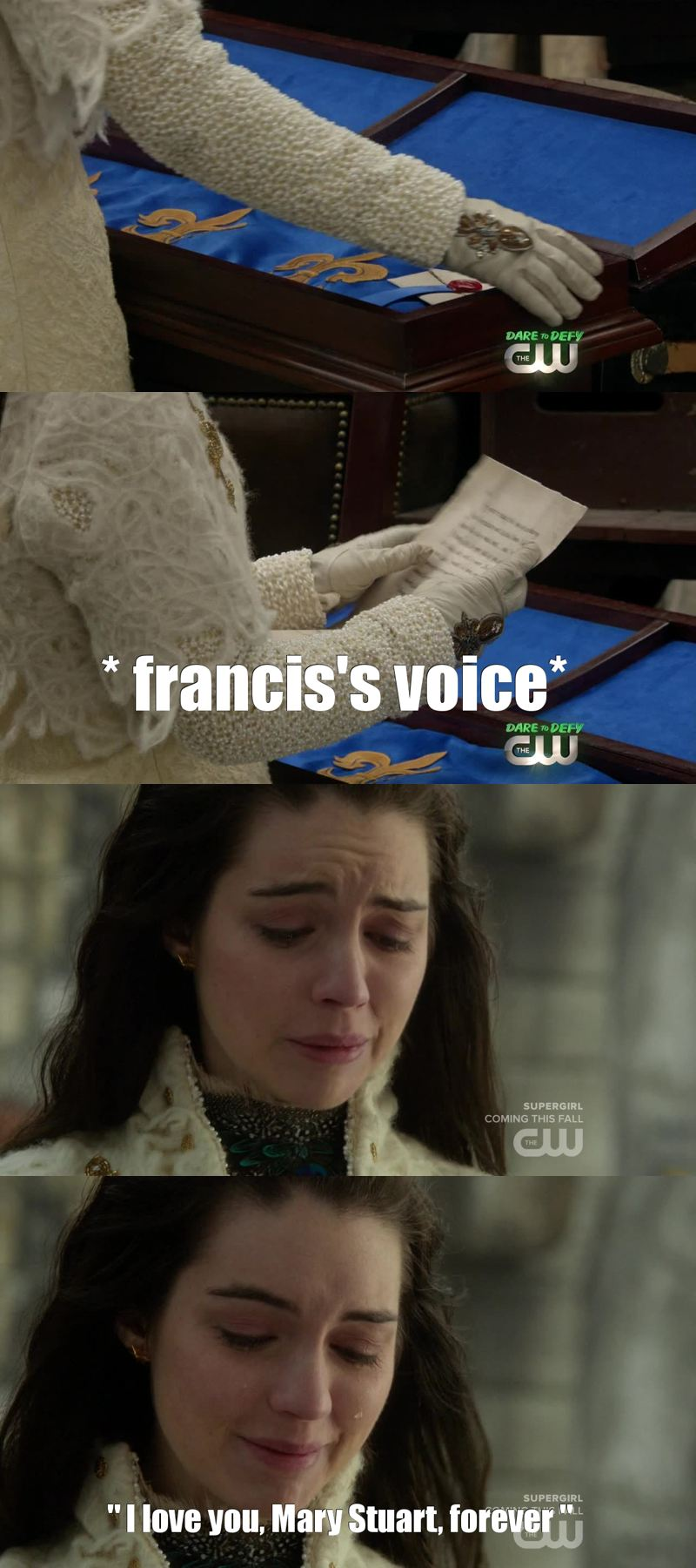 "I WAS LIKE ""OMG FRANCIS'S VOICE I'M GONNA DIE, I MISS HIM SO MUCH OMG FRARY MY LIFE"" AND IT WAS THE MUSIC OF FRANCIS'S DEATH, I'M BROKEN"
