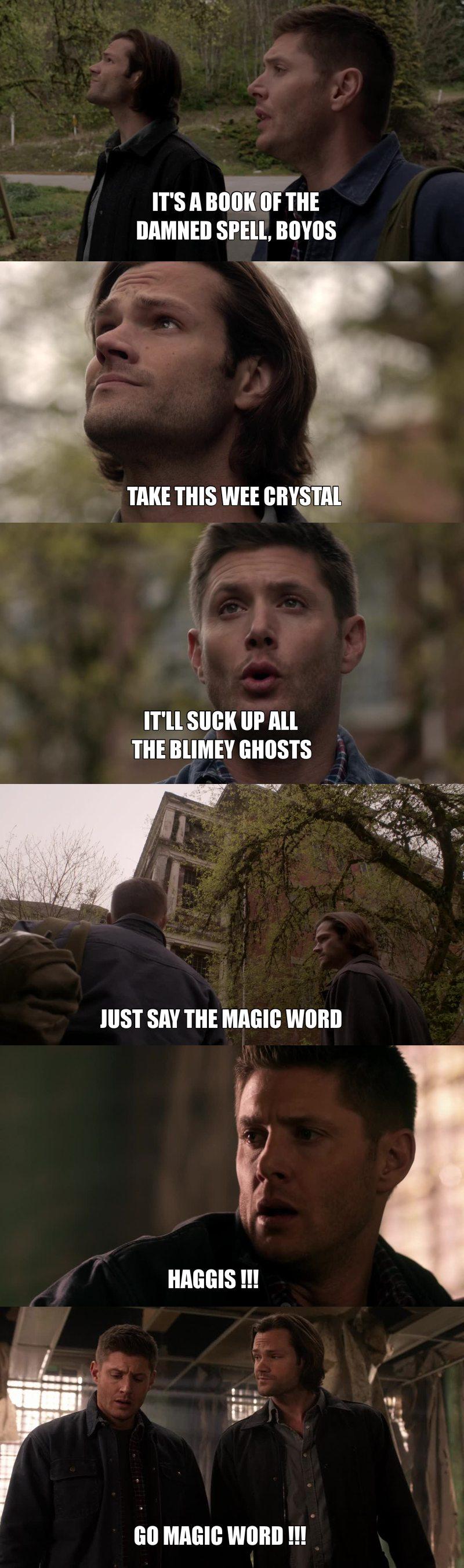 Dean imitating Rowena was hilarious xd