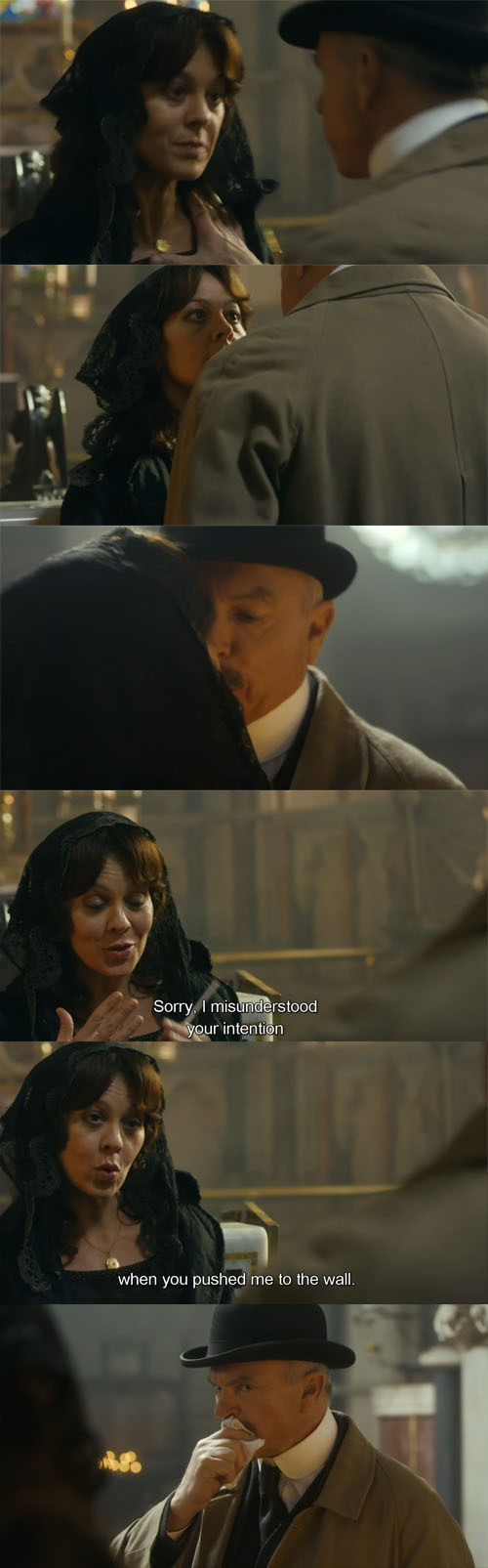 Aunt Polly sure is a daring woman! She played nice against this Inspector...
