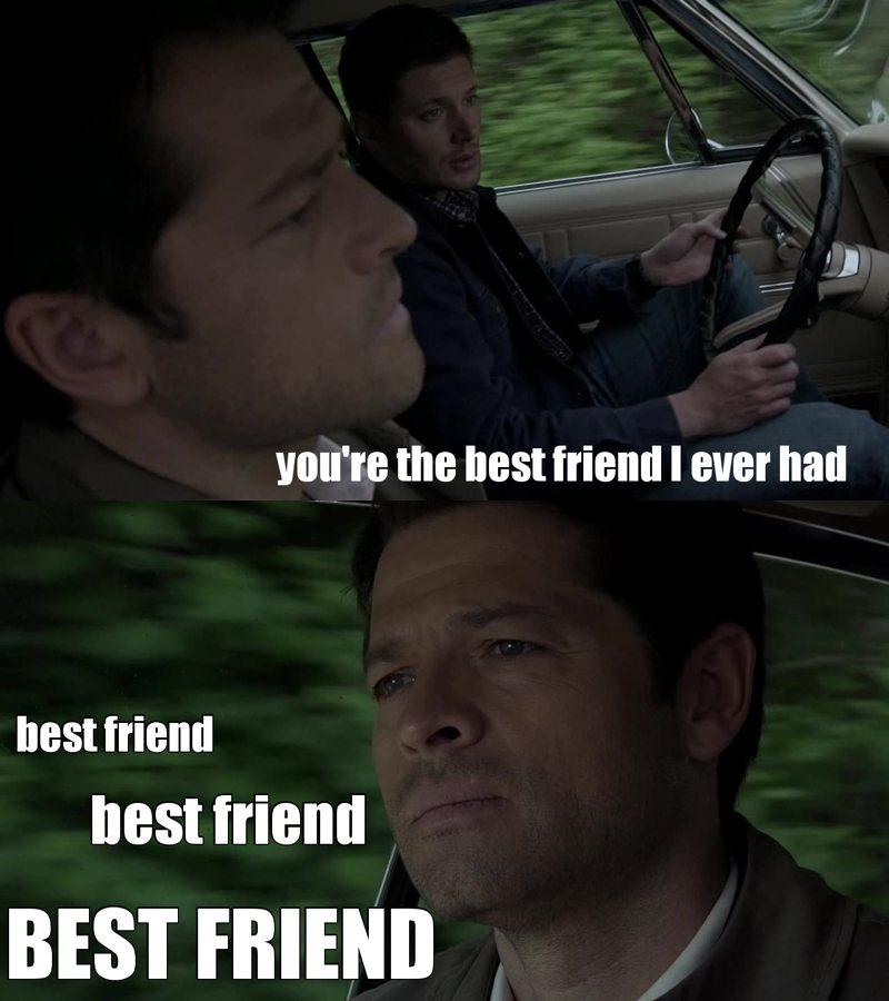 Friendzone level supernatural... #IbelieveinDestiel