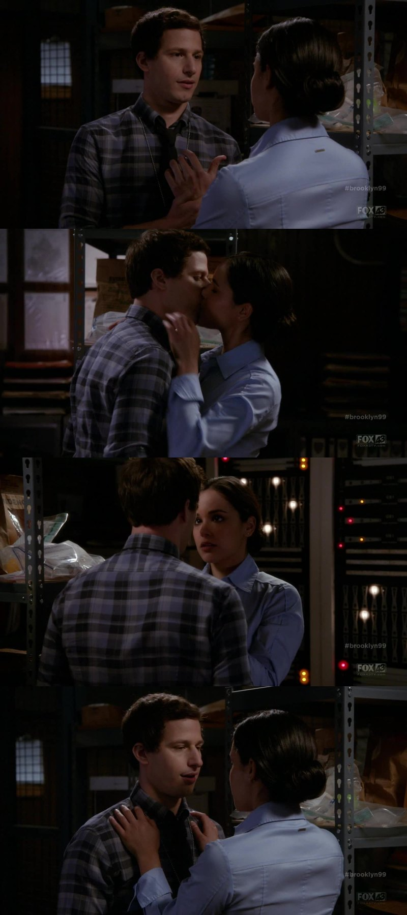 MY HOLY COW THIS SCENE WAS EXPLODING OF SEXUAL TENSION. ANDY SAMBERG AND MELISSA FUMERO ARE CHEMISTRY GOAL AF.