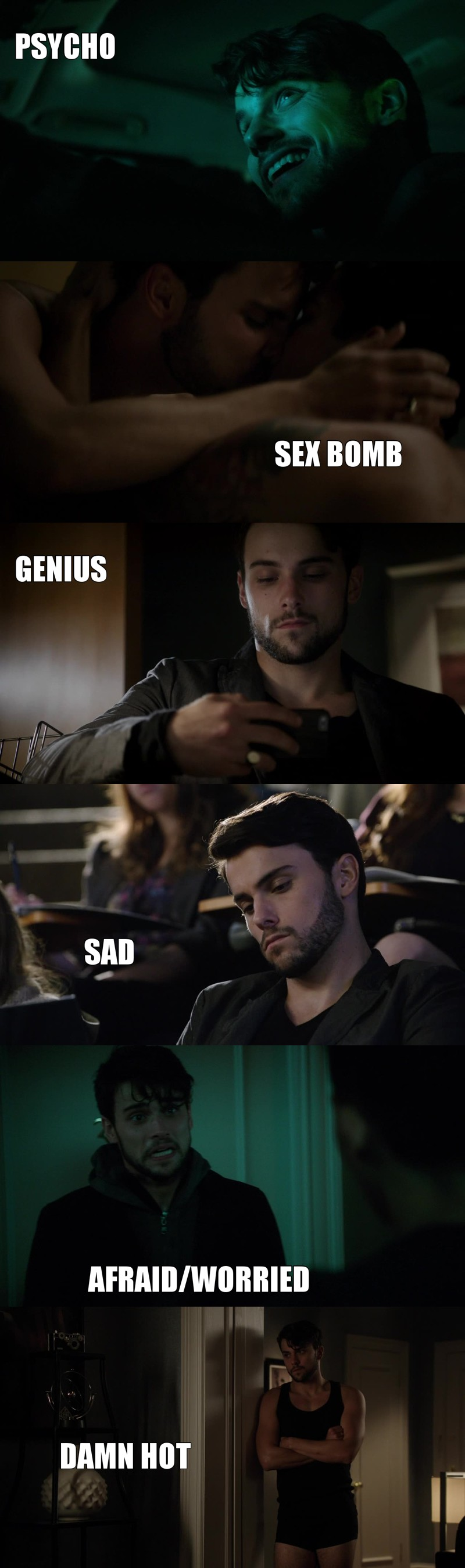 Connor Walsh IS A CUPCAKE. AND I LOVE EVERY SINGLE VERSION! Jack Falahee IS WONDERFUL!