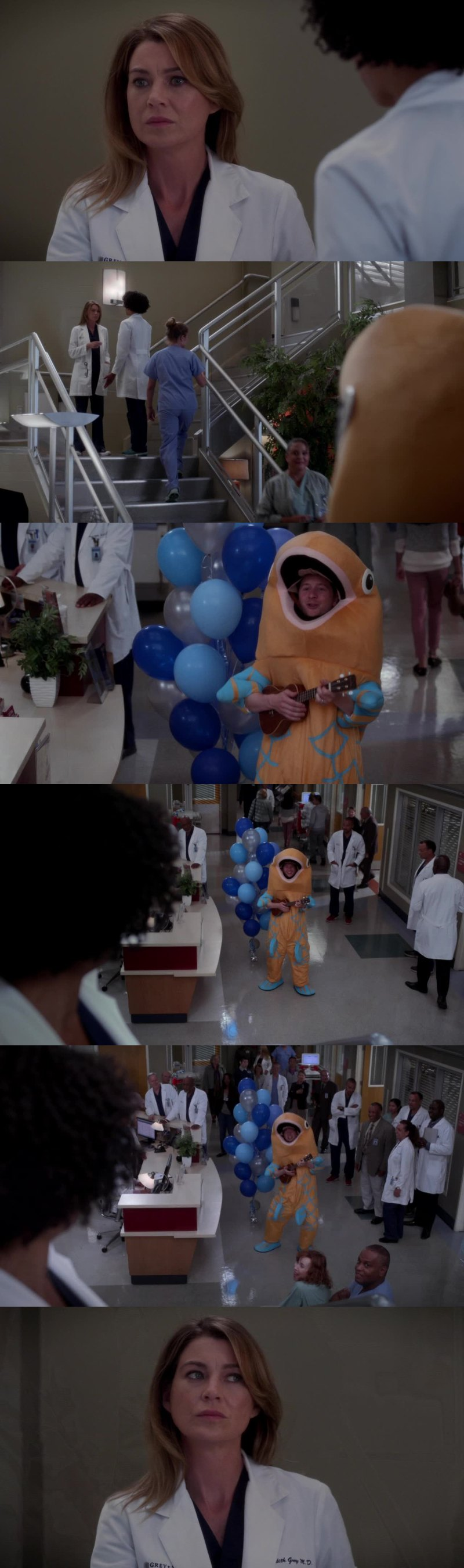 Meredith's reaction is so precious 😂😂