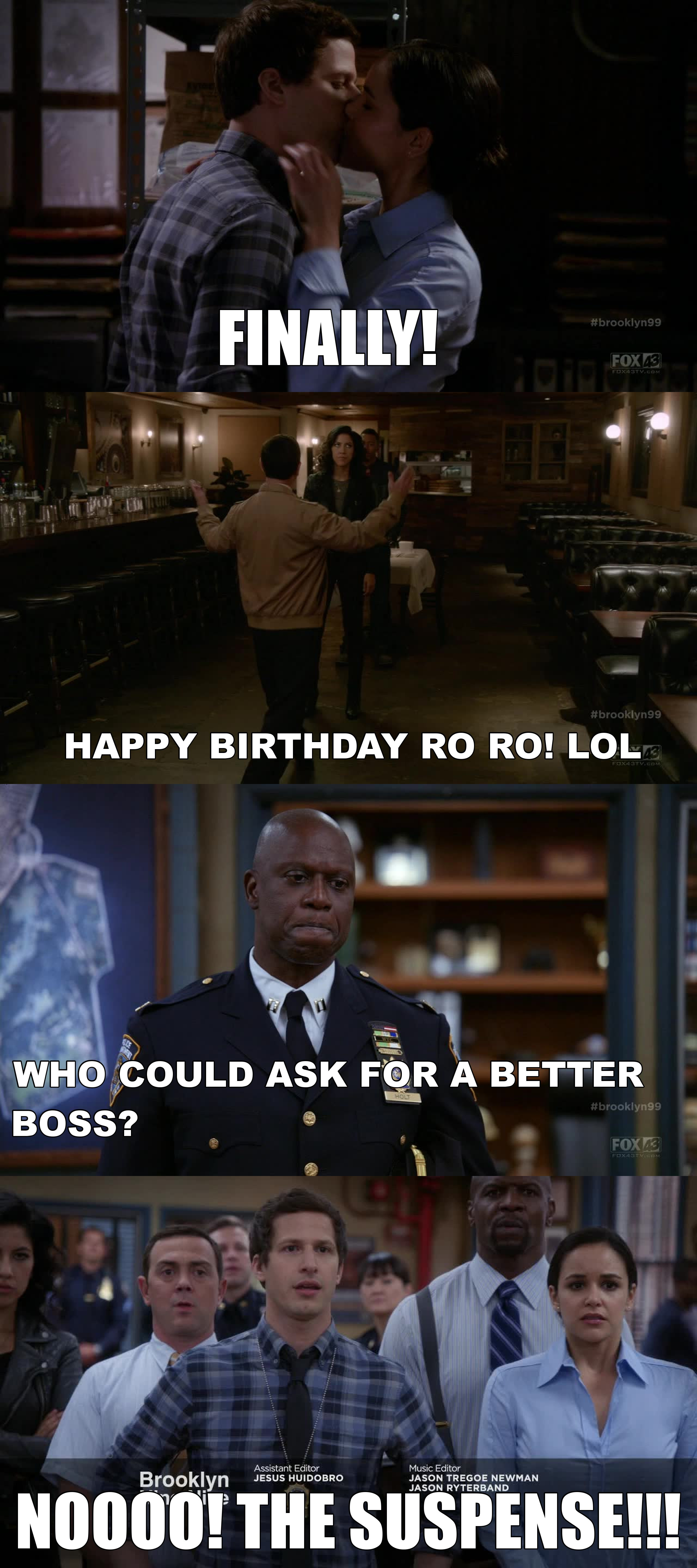 It finally happened!!!! But now everything is gonna change! Are we ready for that!? lol And noble Captain Holt! Always sacrificing for the 99!