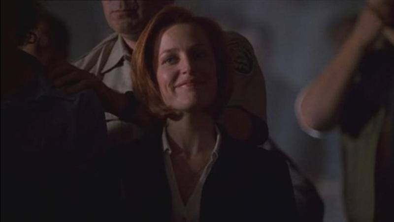 Il loro stato alla fine dell'episodio... comunque la faccia piena di soddisfazione di Scully prima del finimondo è unica