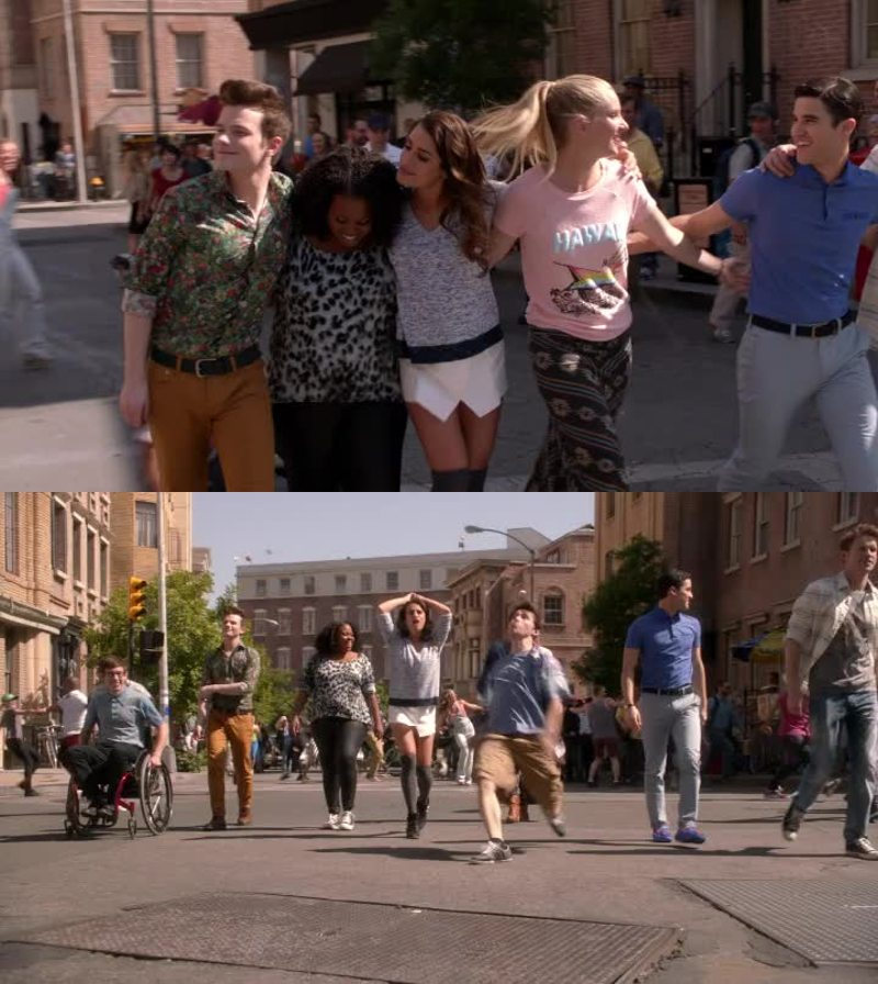 """Even though the cast's interpretation of """"Pompeii"""" to wrap up this fifth season was outstandingly flawless, the best season finale Glee has ever made is, in my opinion, season 3.🙊💜"""