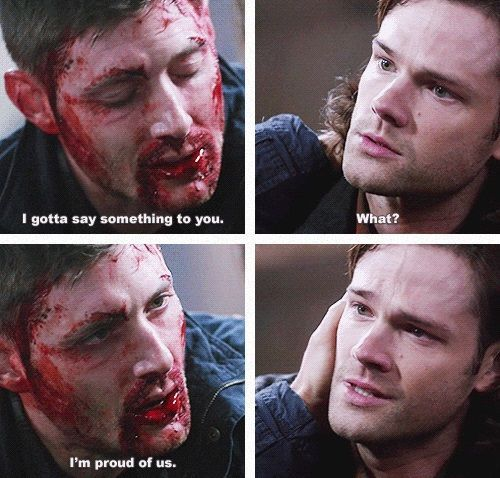 I AM NOT FINE AT ALL AFTER THIS EPISODE... SUPERNATURAL PLEASE STOP DESTROYING MY FEELINGS