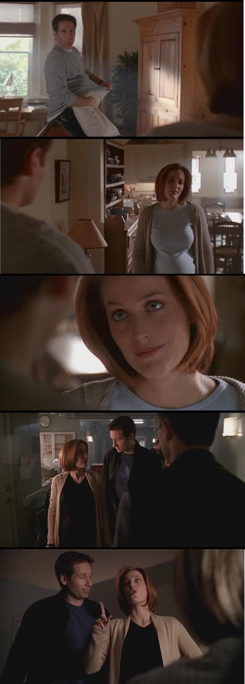 Troppo carine le scene di Mulder e Scully... ma soprattutto quella dove sono nella stanza con l'agente Harrison... cioè.... penso che in quel momento personificasse noi fan ahahahahahahah