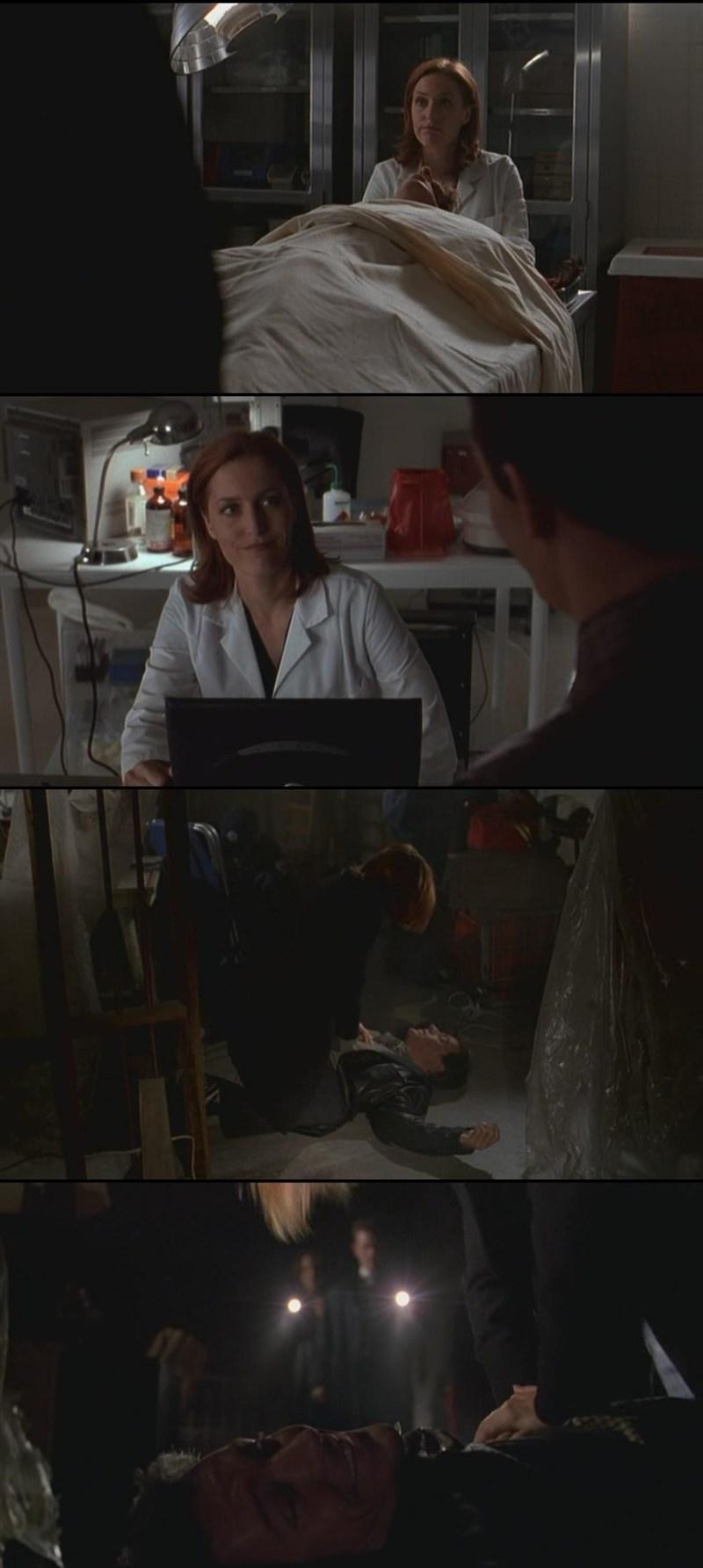 Adoro quando Scully fa quelle faccette ahahahahahah M'hanno fatto morire tutte le scene con Scully e Rocky... poi il finale ahahahahahahahahahahah