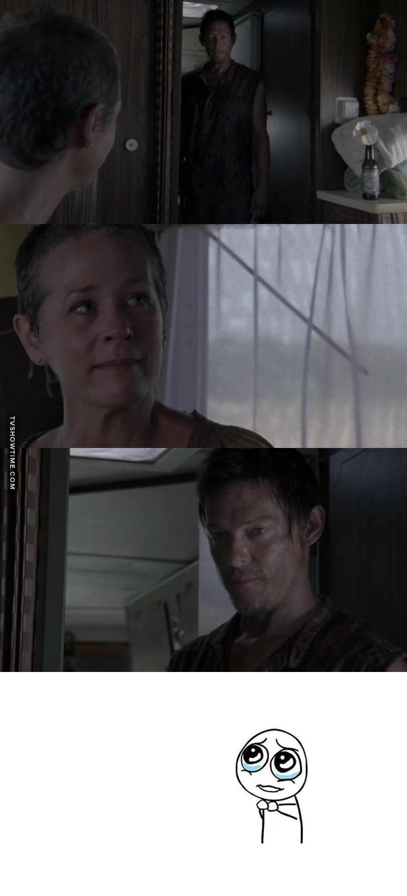 J'adore ce passage où Daryl raconte la légende des roses Sherokee à Carol, c'est un de mes passages préféré de la série. Et c'est aussi à ce moment là que j'ai commencé à adorer ce personnage, Daryl Dixon c'est carrément la base. 💪😍