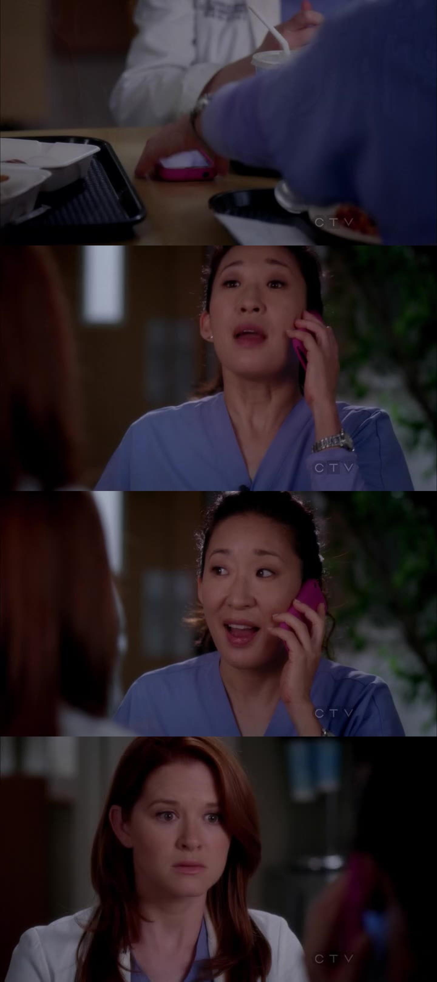 Ahahahahah Cristina imitating April was amazing!