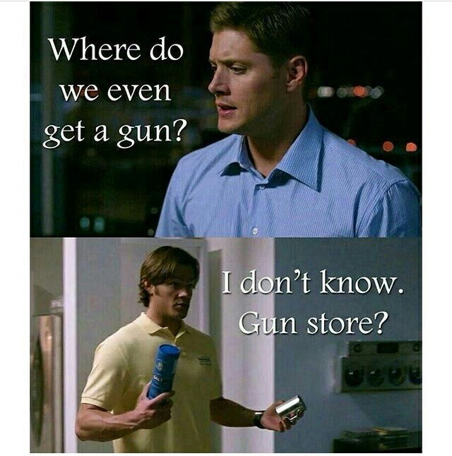 😂😂😂😂sam and dean are so funny in the episode