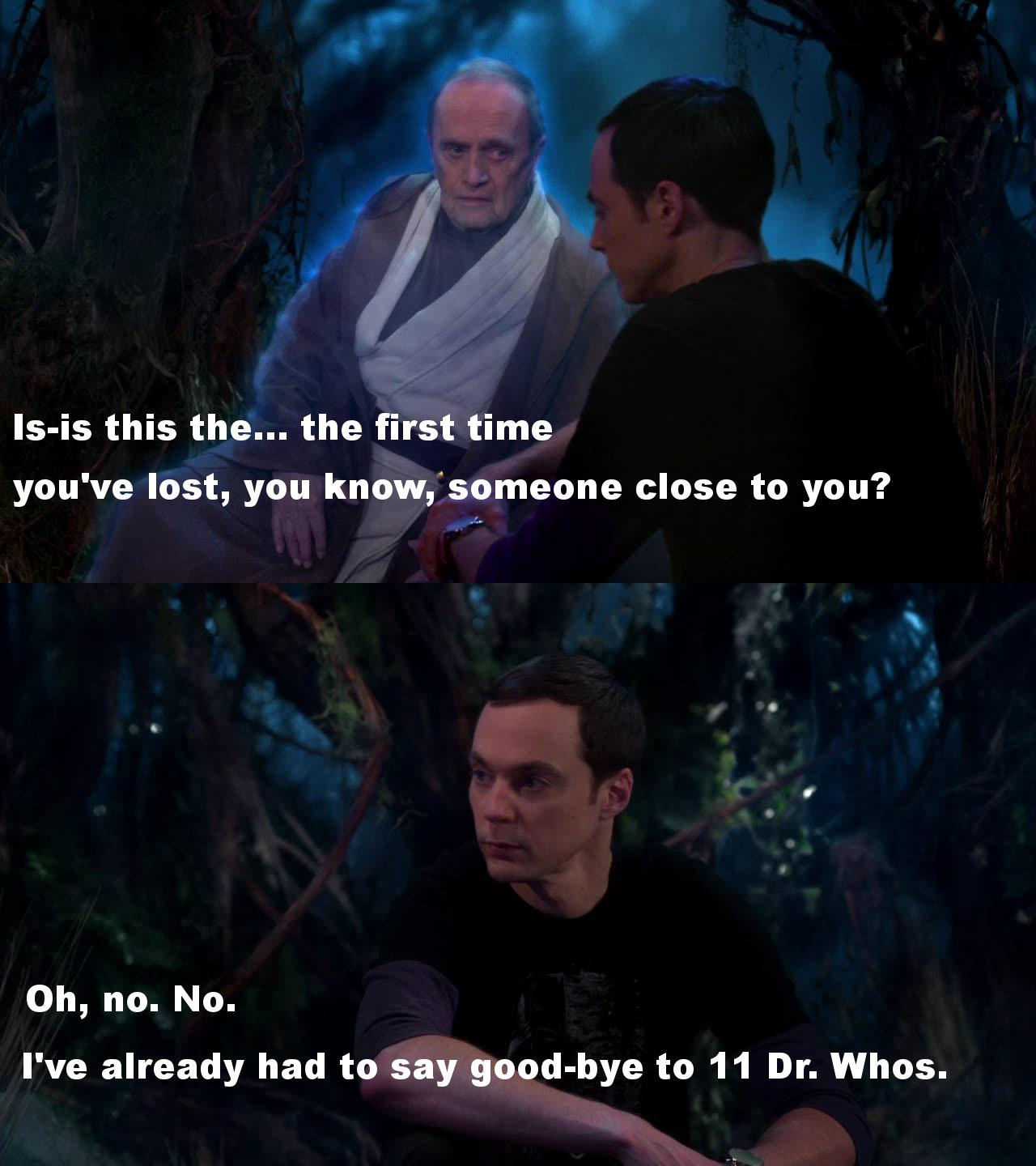 Sheldon whovian fan!!