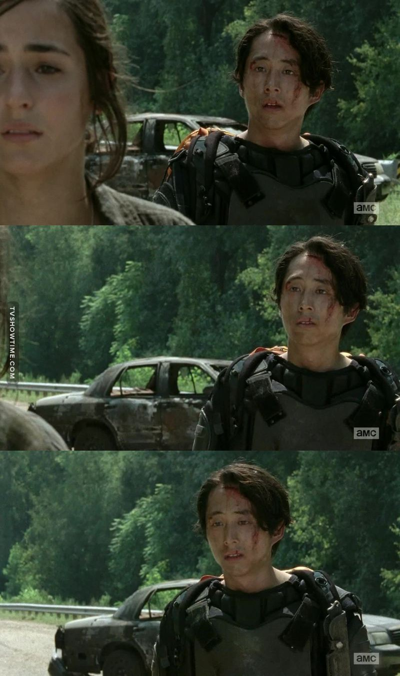 """""""- And then he killed that old man...  - Hershel...? Was his name Hershel?!!"""" 😭😭"""