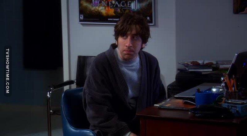 Howard is waaaay better when he has dirty hair 😂